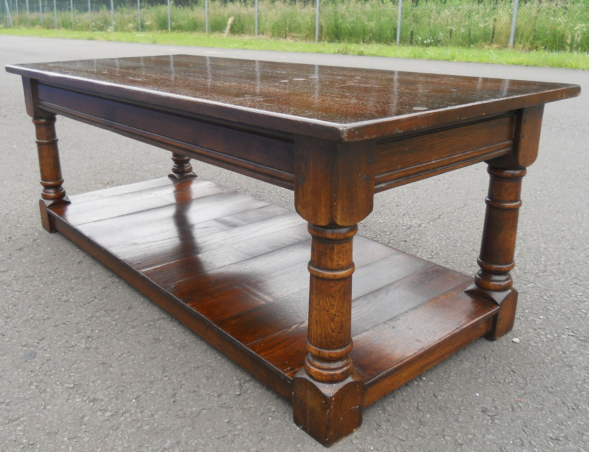 Antique Style Oak Coffee Table